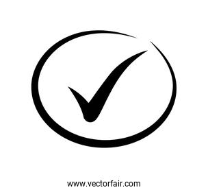 Check mark design. yes concept. vector graphic