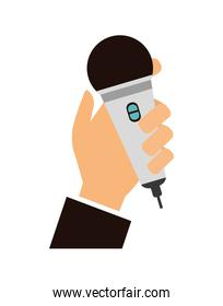 Music design. microphone icon. isolated image. vector graphic