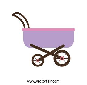 Baby design. stroller icon. isolated image. vector graphic