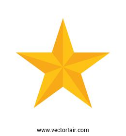 Star shape of five points design, success concept, vector graphi