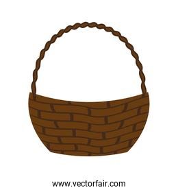 Traditional and colorfull basket. Shopping concept. vector graph