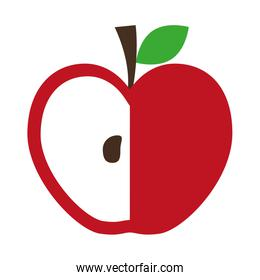 Healthy and organic food. Apple fruit icon. vector graphic