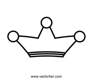 crown of three points. Royalty icon. vector graphic