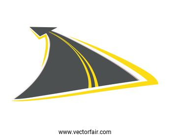 Urban lifestyle concept. Street way icon. vector graphic