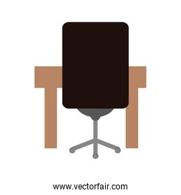Office concept. chair and table  icon. vector graphic