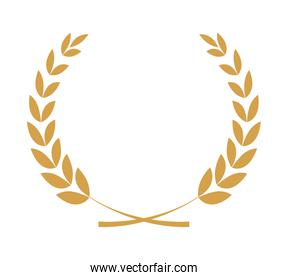 Decoration concept. Wreath of leaves l icon. vector graphic