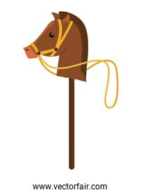 Childhood toy concept. horse Animal icon. vector graphic