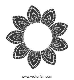 Bohemic draw concept. flower icon. vector graphic