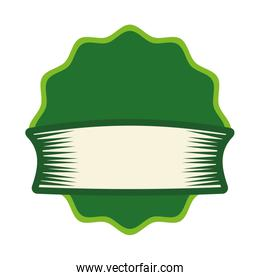 Label concept. banner with ribbon icon. vector graphic
