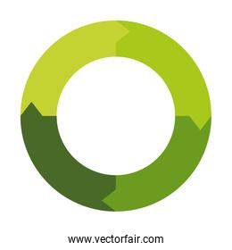 Green  infographic data concept. circle  icon. vector graphic
