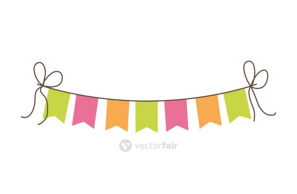 Celebration and festival design. pennant  icon. vector graphic