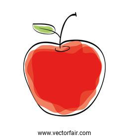 Organic and healthy food design. Apple icon. vector graphic
