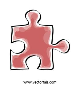 Game and teamwork design. Puzzle icon. vector graphic