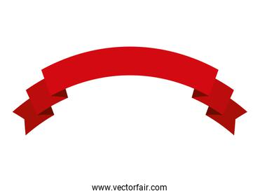 label design. red ribbon icon. vector graphic