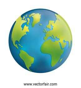Planet icon. Earth sphere design. vector graphic