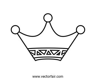 Crown icon. Vip and luxury design. vector graphic