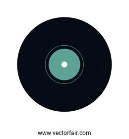 vinyl design. Music and sound icon. vector graphic