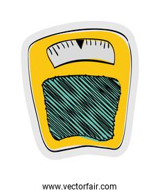 Scale icon. Weight design. vector graphic