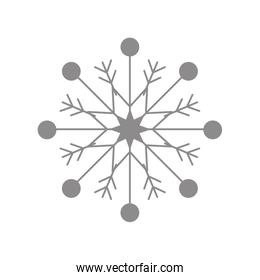 Grey Snowflake. Winter design. vector graphic