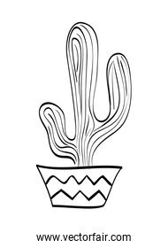 Cactus with pot icon. Plant  design. vector graphic