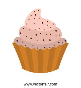 Cupcake icon. Sweet Food design. vector graphic