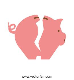 Piggy icon. Money and  Financial item design. vector graphic