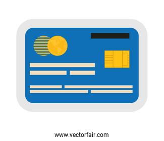 Credit card icon. Money and  Financial item design. vector graph