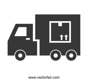 truck icon. Delivery and Shipping design. vector graphic