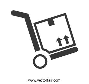 Package silhouette. Delivery design. vector graphic