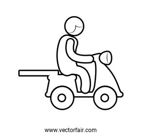 Motorcycle silhouette. Transportation design. vector graphic
