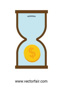 Hourglass icon. Money and Financial item design. vector graphic