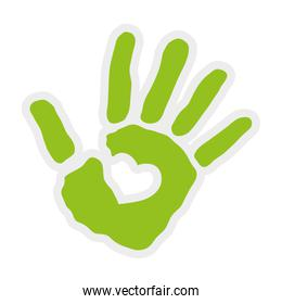 Hand icon. Help design. Vector graphic