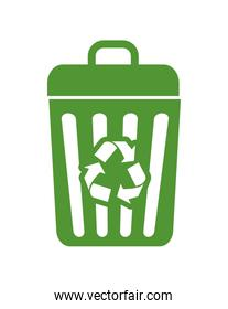 Recycle trash icon. Ecology design. Vector graphic