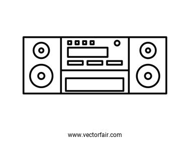 speaker icon. Appliance design. Vector graphic