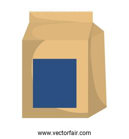 Food bag icon. Bakery design. Vector graphic