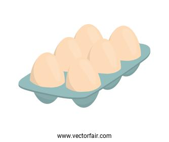 Egg icon. Bakery ingredient design. Vector graphic