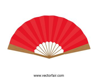 females fan  icon. Japan culture. Vector graphic