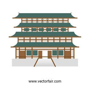 traditional architecture icon. Japan culture. Vector graphic
