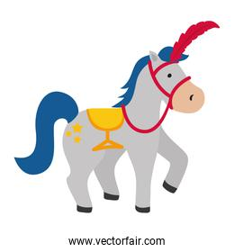 horse icon. Circus and carnival design. Vector graphic
