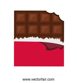 Chocolate icon. Dessert design. Vector graphic