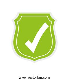 shield icon. Security and warning design. vector graphic