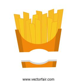 french fries icon. Fast food design. vector graphic