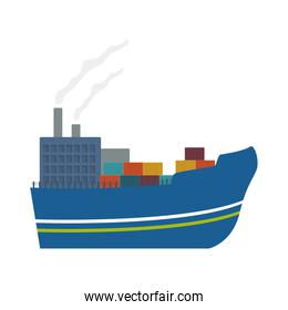 ship and container icon. delivery design. vector graphic