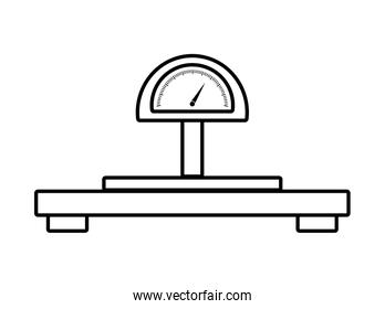 weight design. scale illustration. vector graphic