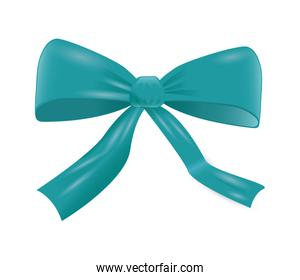 Ribbon icon. bowtie element. vector graphic