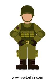 soldier icon. Armed forces design. graphic vector