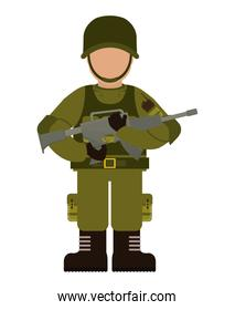 soldier icon. Armed forces. vector graphic