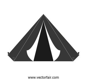 tent icon. Armed forces. vector graphic