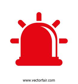 red alarm icon. Justice and law. vector graphic