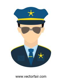 Policeman icon. Justice and law. vector graphic